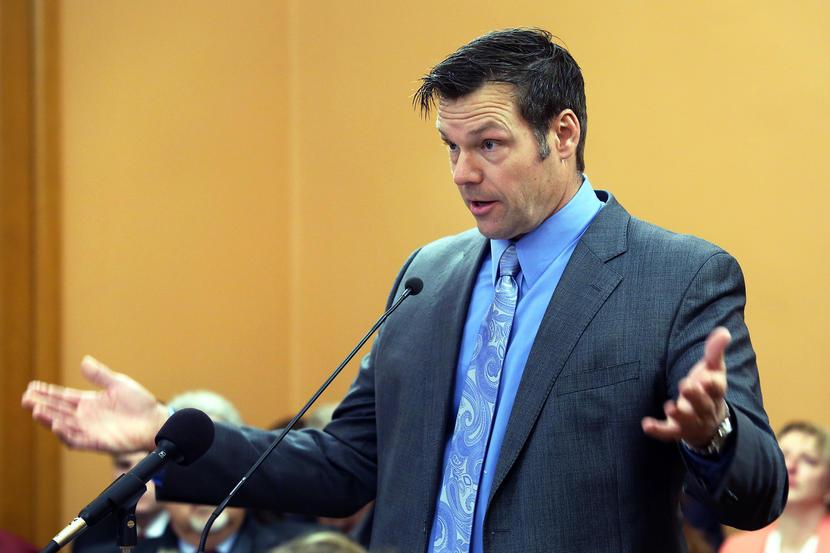 Secretary of State Kris Kobach voter fraud